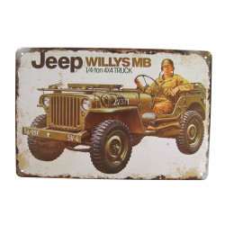 Plaque, Jeep Willys