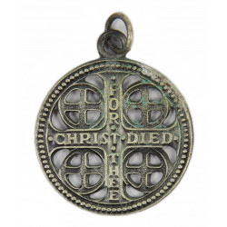 WWII US Army service cross medal pendant, dog tags