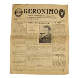 Newspaper, GERONIMO, 1943, 501st PIR, Ray Geddes