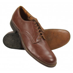 Shoes, Leather, Officer, Size 8 1/2 AA