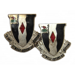 Pair of Distinctive Insignias, 60th Inf. Rgt., 9th ID