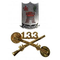 Insignia, Collar, Officer & Distinctive Insignia, 133rd IR, 34th ID
