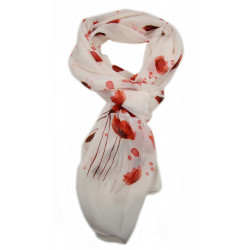 Scarf, poppies.