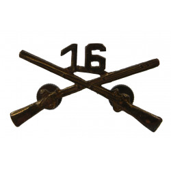 Insignia, Collar, Officer, 16th IR, 1st Infantry Division