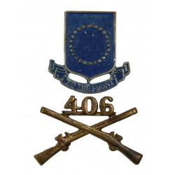 Insignia, Collar, Officer & Distinctive Insignia, 406th IR, 102nd ID
