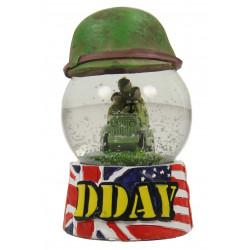 Boule à neige, D-Day, avec un casque