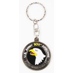 Porte-clés 101e Airborne, rond, argent