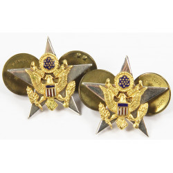General Staff Corps, Officer collar insignia, sterling