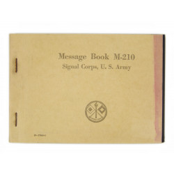 Message book, M-210, 1942