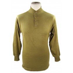 Shirt, Knit, OD, 1942, 4-buttons, 10th Mountain / FSSF