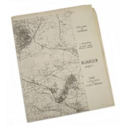 Map, Holland invasion, Airborne, Nijmegen