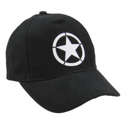 Cap, Baseball, Vintage US Army, Black