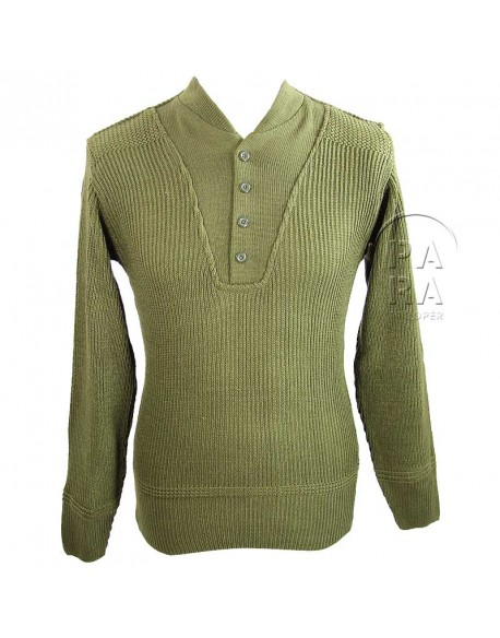 Sweater, High neck, Wool, 5 buttons