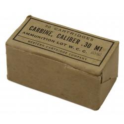 Boite de cartouches, calibre .30 M1, Western Cartridge Company