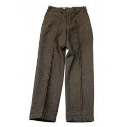 Pantalon en laine moutarde, 1935