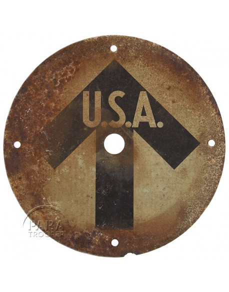 Panneau de signalisation USA, 1944, Normandie