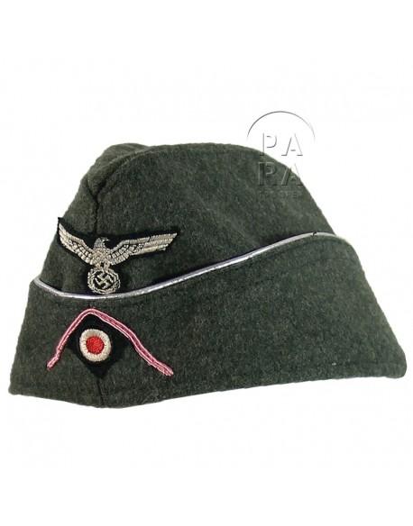 Calot Panzer feldgrau officier