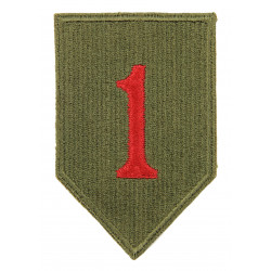 Patch, 1st Infantry Division, 1943, green back