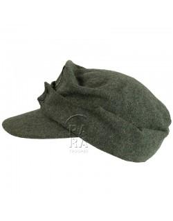 Cap, M-1943, feldgrau, Waffen SS, 2nd type
