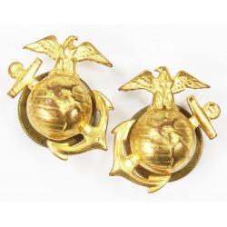 Insignias, Collar, USMC, Enlisted Men