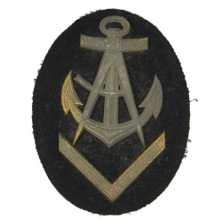 Patch, Sleeve, Senior Carpenter NCO's Career, Kriegsmarine