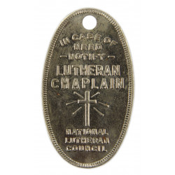 Médaillon religieux US Military personnel, Lutheran, dog tags