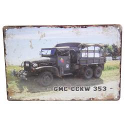 Plate, GMC