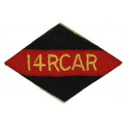 Shoulder Flash, 14th Canadian Armoured Regiment, 1st Canadian Armoured Brigade