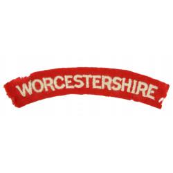 Shoulder Title, Worcestershire, Normandy, Holland
