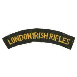 Shoulder Title, London Irish Rifles, MTO