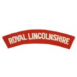 Shoulder Title, Royal Lincolnshire Rgt., Dunkirk, Normandy