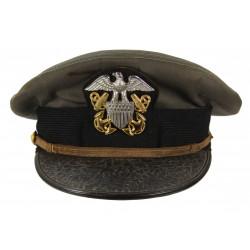Casquette officier, US Navy, grise, Bancroft, nominative