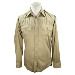 Chemise en coton beige (chino), Flight Officer, USAAF, Glider pilot