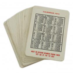 Jeu de cartes, Moharrem Press, 1944