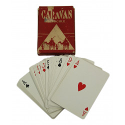 Jeu de cartes Poker d'as, Caravan, rouge
