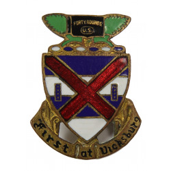 Crest, 13th Inf. Rgt., 8th Infantry Division, B. Hecker N.Y.