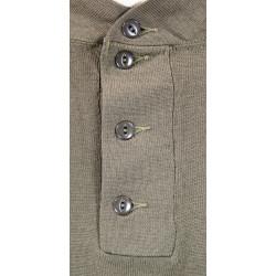 Shirt, Knit, OD, 1942, 4-buttons, 10th Mountain / FSSF