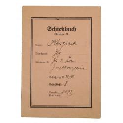 Scorebook, German, 1940