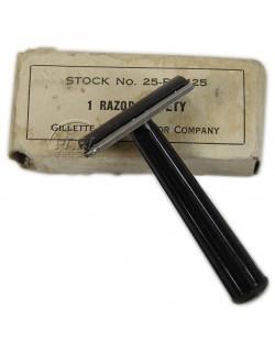 Razor, Safety, Metal, Two piece type, Gilette