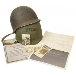 Helmet, M1, Ens. Gerald Bryan, 11th Amphibious Force, Normandy