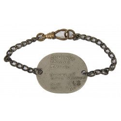 Chain Bracelet, Dog Tag, War Department, 1943