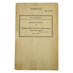"Technical Manual 11-235, Radio Sets SCR-536, 1943, ""Walkie talkie"""
