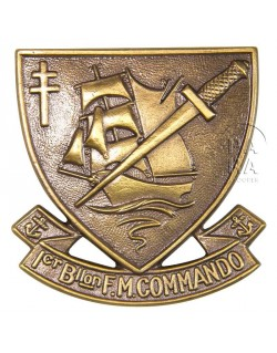 Insigne du 1er B.F.M. (N° 4 Commando)