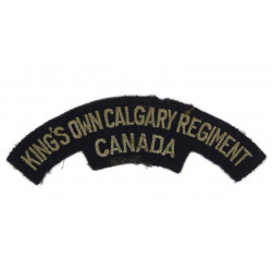 Title, King's Own Calgary Regiment, Canada