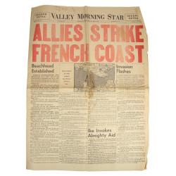 Newspaper, Valley Morning Star, June 6, 1944