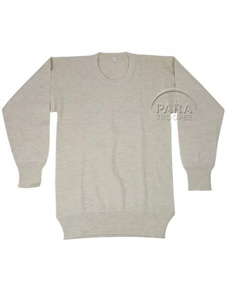 T-shirt, US Army, blanc, manches longues