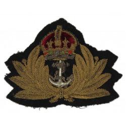 Insigne de casquette officier, Royal Navy