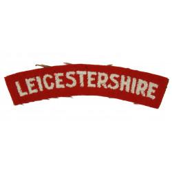 Shoulder Title, The Leicestershire Regiment, Dunkirk, Normandy