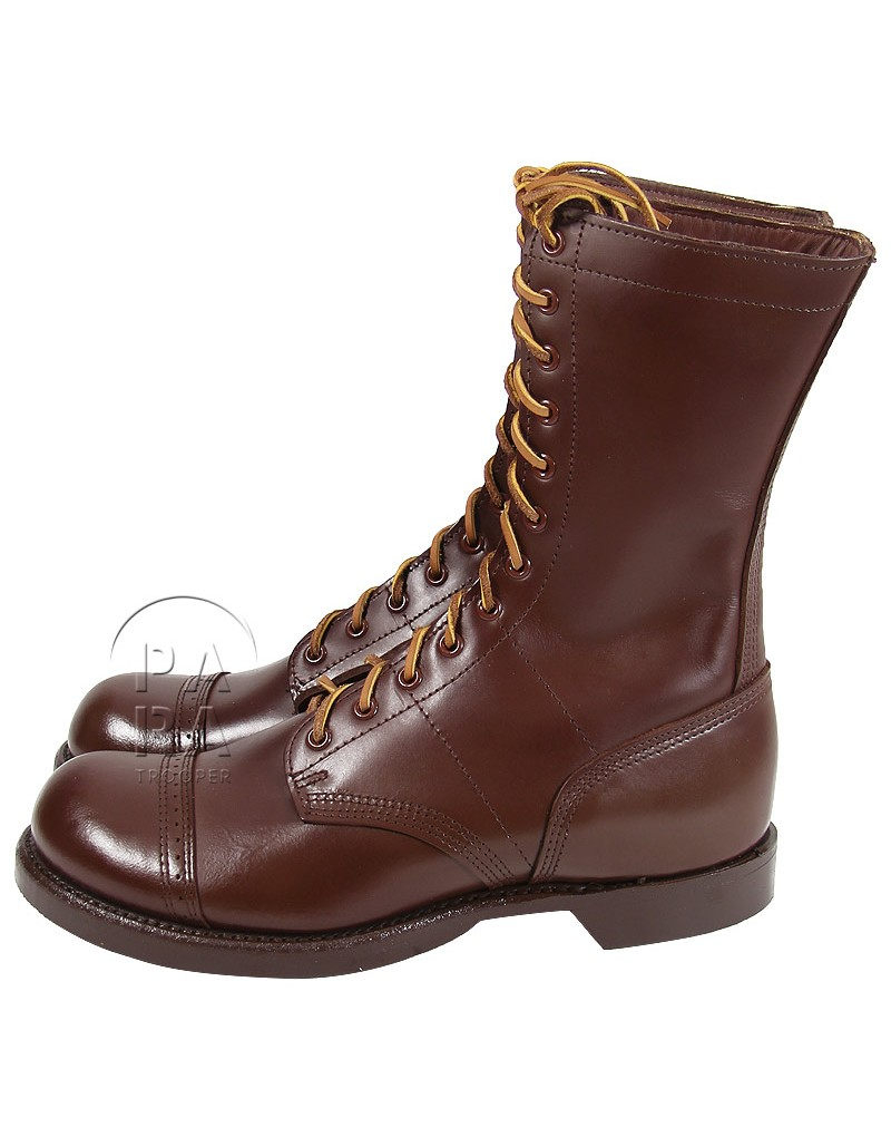 Us Army Paratrooper Brown Jump Boots Made In Usa