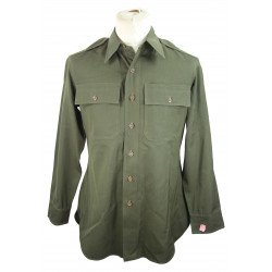 Shirt, Wool elastique, Drab, Officer's, Chocolate